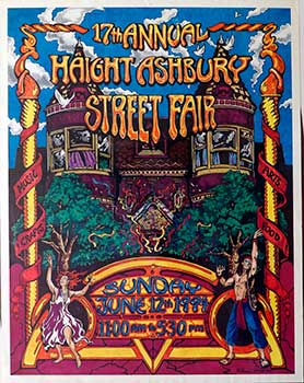 17th Annual Haight-Ashbury Street Fair. Poster. Shane Grogg