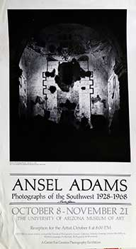 "Interior of Tumacacori Mission, Arizona - on Poster for ""Ansel Adams, Photographs of the..."