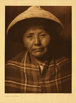 Quinault female type. Portfolio plate no. 294. (Large format supplementary plate for The North American Indian). Edward Sheriff Curtis.