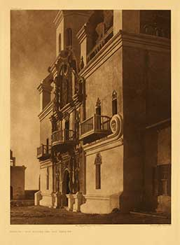 Facade - San Xavier del Bac Mission. [Tucson, Ariz.] Portfolio plate no. 51. (Large format supplementary plate for The North American Indian). Edward Sheriff Curtis.