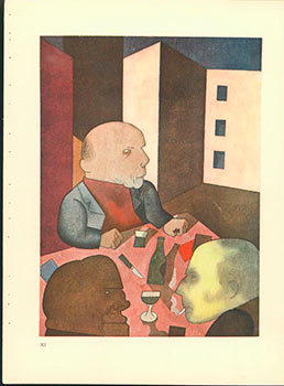 Der Mensch ist gut. Man is good. (1921) Aquarell Plate No. XII from Ecce Homo. Originalausgabe....
