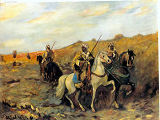Arabs with Rifles on Horseback. I. After Adolph Schreyer, French/German