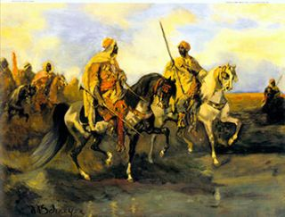 Arabs with Rifles on Horseback. II. After Adolph Schreyer, French/German