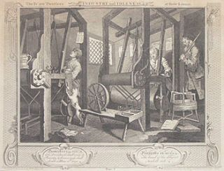 Industry and Idleness. Complete set of 12 engravings. William Hogarth, After., Thomas Cook, c