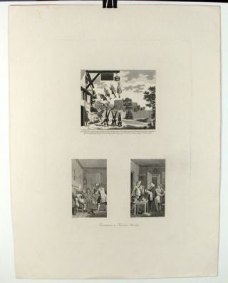 Three Frontispieces to Tristram Shandy. William Hogarth, After., Thomas Cook, c