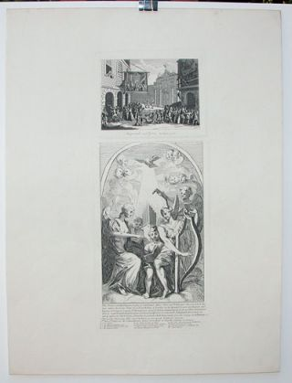 """Masquerades and Operas - Burlington Gate"" and ""Burlesque on Kent's Altarpiece at St. Clements..."