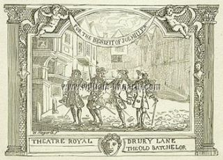 For the Benefit of Joe Miller. Theatre Royal. Drury Lane. The Old Batchelor. William Hogarth,...