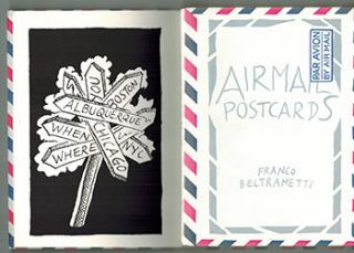 Airmail Postcards. Limited edition. Franco Beltrametti