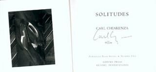 Solitudes. Limited Edition. Signed. Carl Chiarenza
