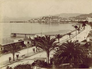Cannes. Boulevard de la Croisette. Vintage photograph. 19th Century French Photographer: GI