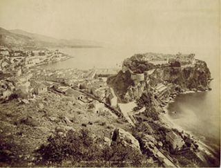 Beaulieu - Le Port. Vintage photograph. 19th Century French Photographer: L