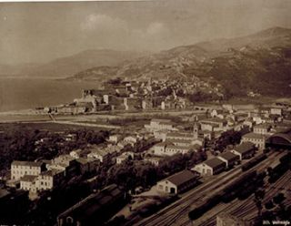 Ventimiglia. Vintage photograph. 19th Century Italian Photographer: Edition Photoglob