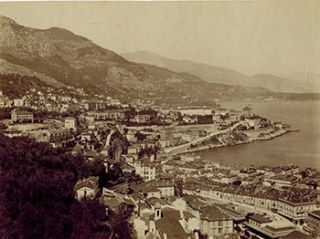 Monte-Carlo. Vue Générale. Vintage photograph. 19th Century French Photographer: GJ