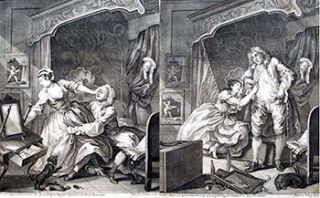 Before and After. Original etchings. William Hogarth