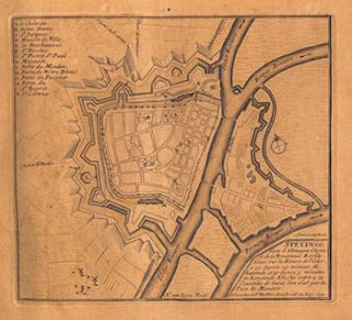 Album of City Plans and Views mainly by Nicolas de Fer. Turin, Endingen, Mont Royal, Mayence,...
