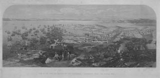 View of the Town and Harbour of San Francisco., California from Signal Hill. artist Collinson, W....