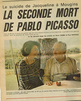 Documents on the Death of Jacqueline Picasso. Pablo Picasso, Marie-Laure Bernadac