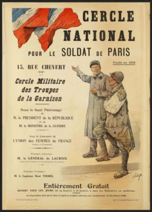 Cercle National pour le soldat de Paris. First edition. dessinateur JOB, dit Jacques-Marie-Gaston...
