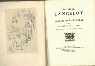 Monsieur Lancelot à l'abbaye de Saint-Cyran. First edition, signed.
