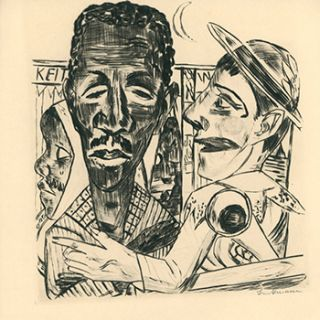 Der Neger. (The Negro). First edition of the Drypoint. Max Beckmann