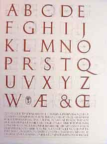 A Constructed Roman Alphabet. David Lance Goines