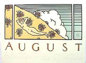 August. Chez Panisse Seventh Birthday. 1978. David Lance Goines