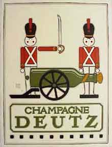 Champagne Deutz [poster]. David Lance Goines