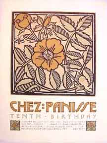 Chez Panisse 10th Birthday. Tenth Birthday [poster]. David Lance Goines