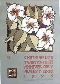 Chez Panisse 25th Birthday [poster]. David Lance Goines