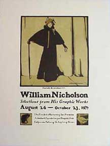 Sarah Bernhardt (after William Nicholson) [poster]. David Lance Goines