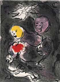 The Prophet Daniel with the Lions. Marc Chagall