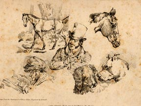 Country squire, horses and dogs. Henry Alken
