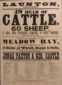 49 Head of Cattle, Sheep, Nag and Harness Horses, 4 Cart Mares. Launton [original auction...