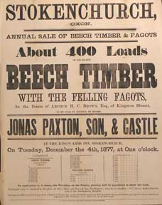About 400 Loads of Excellent Beech Timber with the Felling Fagots. Stokenchurch, Oxen [original...