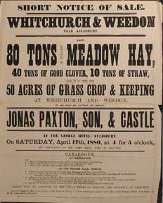 80 Tons of Excellent Meadow Hay, Clover, Straw, Grass Crop and Keeping at Whitchurch and Weedon....