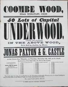 50 Lots of Capital Underwood. Coombe Wood, near Wheaton, Oxon [original auction poster]. Jonas...