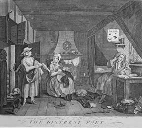 The Distressed Poet, a plate from The Works of William Hogarth from the Original Plates restored...