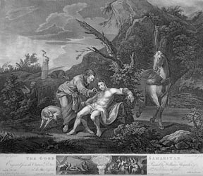The Good Samaritan, a plate from The Works of William Hogarth from the Original Plates restored...