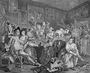 A Rake's Progress, eight plates from The Works of William Hogarth from the Original Plates...