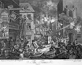 The Times, two plates from The Works of William Hogarth from the Original Plates restored by...