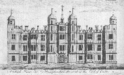 Burleigh House in Northamptonshire, the Seat of the Earl of Exeter. Anonymous