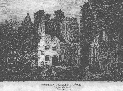 Interior of Ludlow Castle, with the Circular Chapel, Shropshire. Angus after Holmes