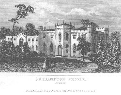 Roehampton Priory, Surrey. Dugdale's England and Wales.