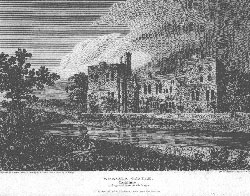 Wressle Castle, as it appeared before the Fire in 1796, Yorkshire. Matthews after Neale after Savage