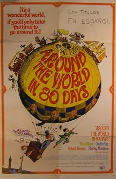Around the World in 80 Days. Movie poster. Michael Anderson, Finlay Currie, David Niven,...
