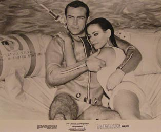 Thunderball (James Bond 007). Movie photograph. Claudine Auger Sean Connery, Adolfo Celi
