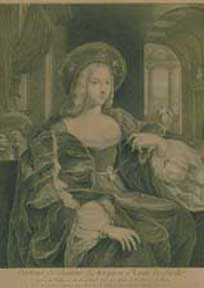 Portrait de Jeanne d'Arragon Reine de Sicile. Jacques after Raphaël Chereau