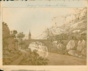 Bridge of St. Maurice on the Rhône. A. B