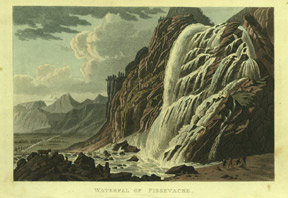 Waterfall of Pissevache. R. Ackermann