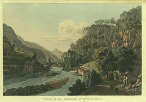 View of the Bridge of St. Maurice. R. Ackermann